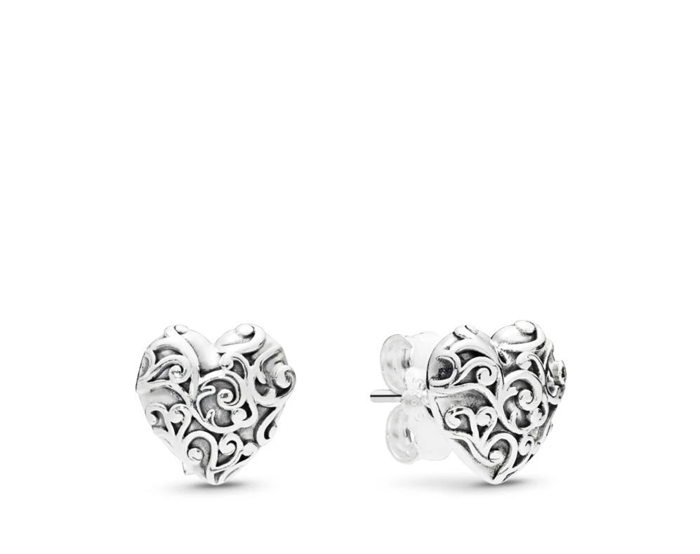 Regal Hearts Stud Earrings - Earring - Pandora Las Vegas Jewelry