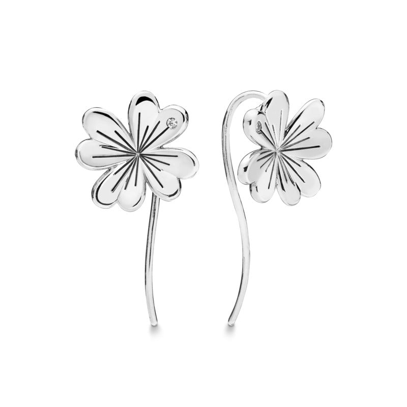Lucky Four-Leaf Clover Earrings - Pandora Jewelry Las Vegas