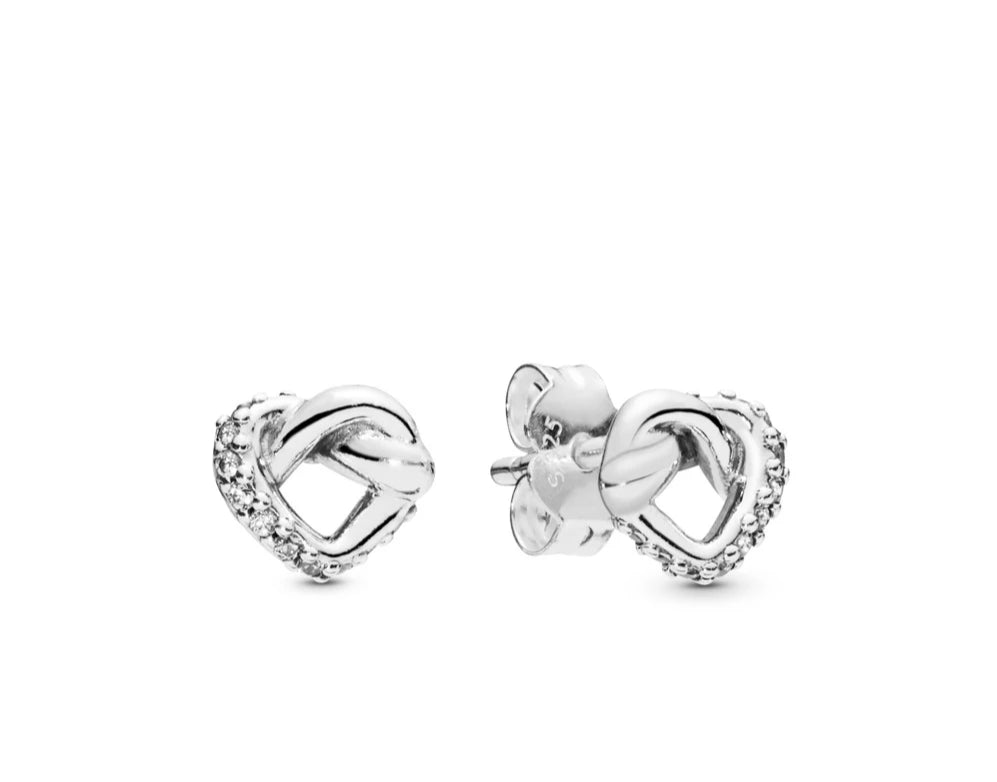 Knotted Heart Stud Earrings - Pandora Jewelry Las Vegas