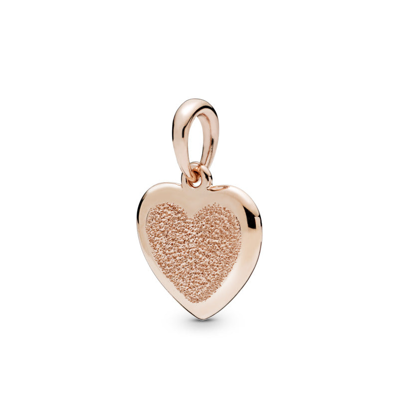 Matte Brilliance Heart Pandora Rose Pendant - Pandora Jewelry Las Vegas