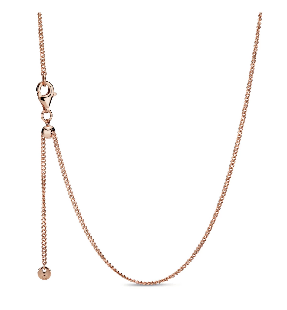 Curb Chain Pandora Rose Necklace - Pandora Jewelry Las Vegas