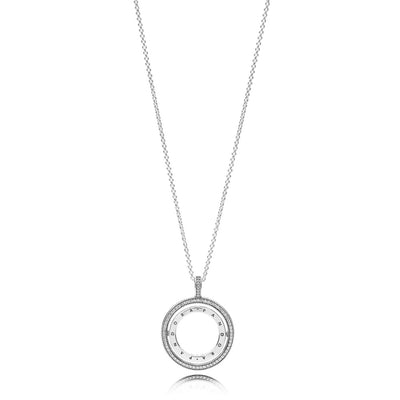 Spinning Hearts Of Pandora Necklace, Clear Cz - Pandora Jewelry Las Vegas