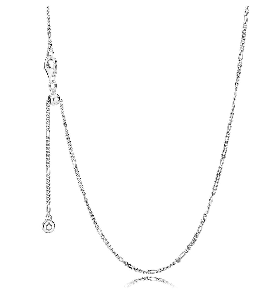 Figaro Sliding Clasp Chain Necklace - Pandora Jewelry Las Vegas