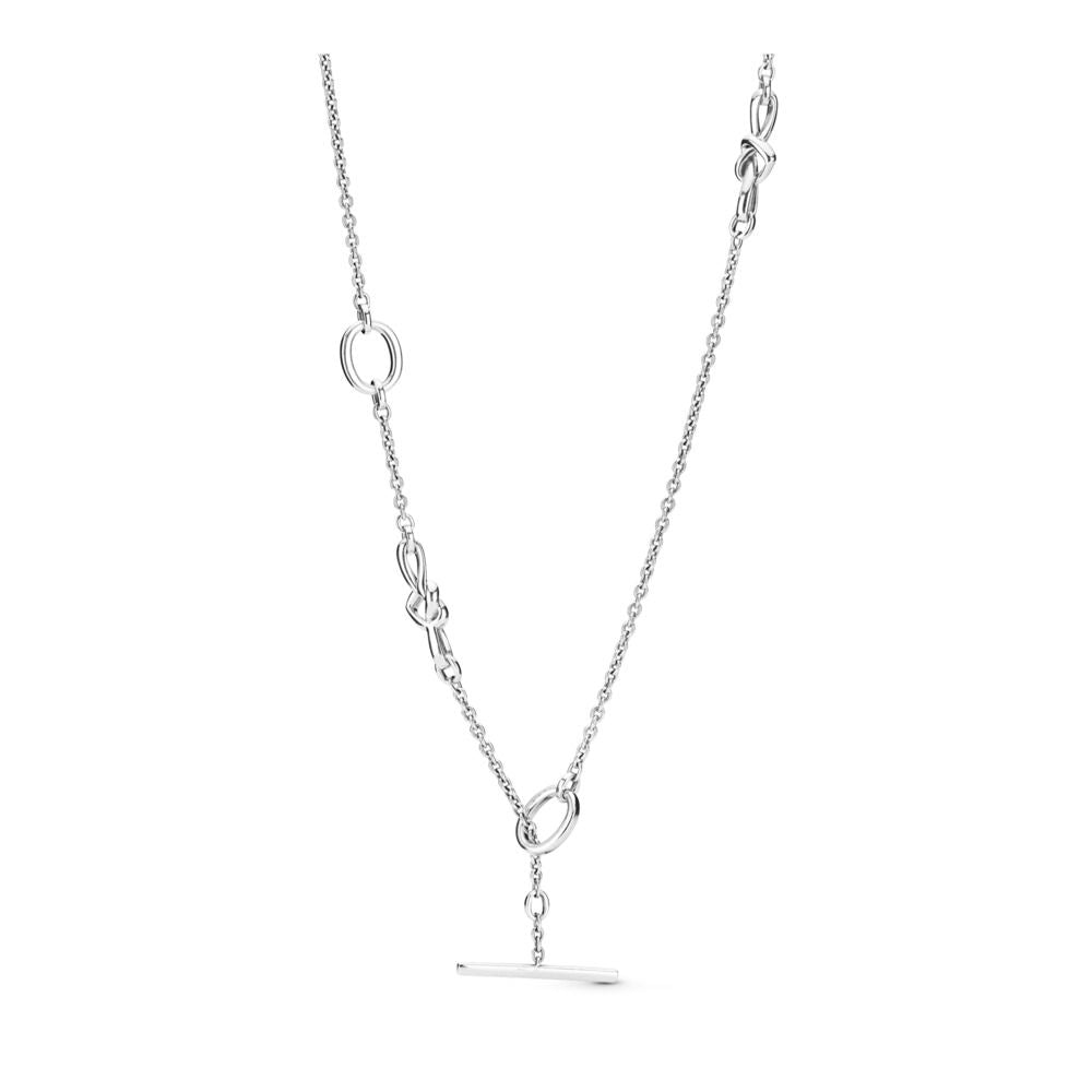 Knotted Heart T-Bar Necklace - Pandora Jewelry Las Vegas