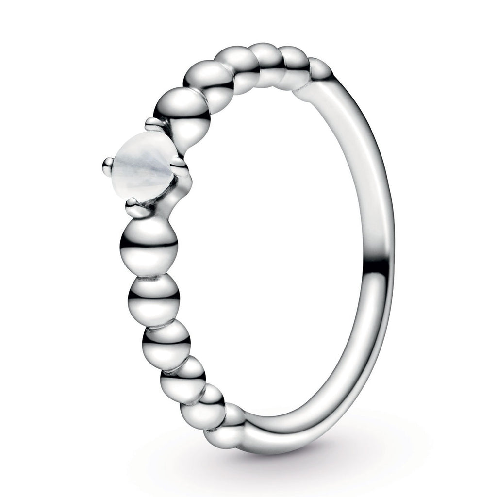 Milky White Beaded Ring - Pandora Jewelry Las Vegas