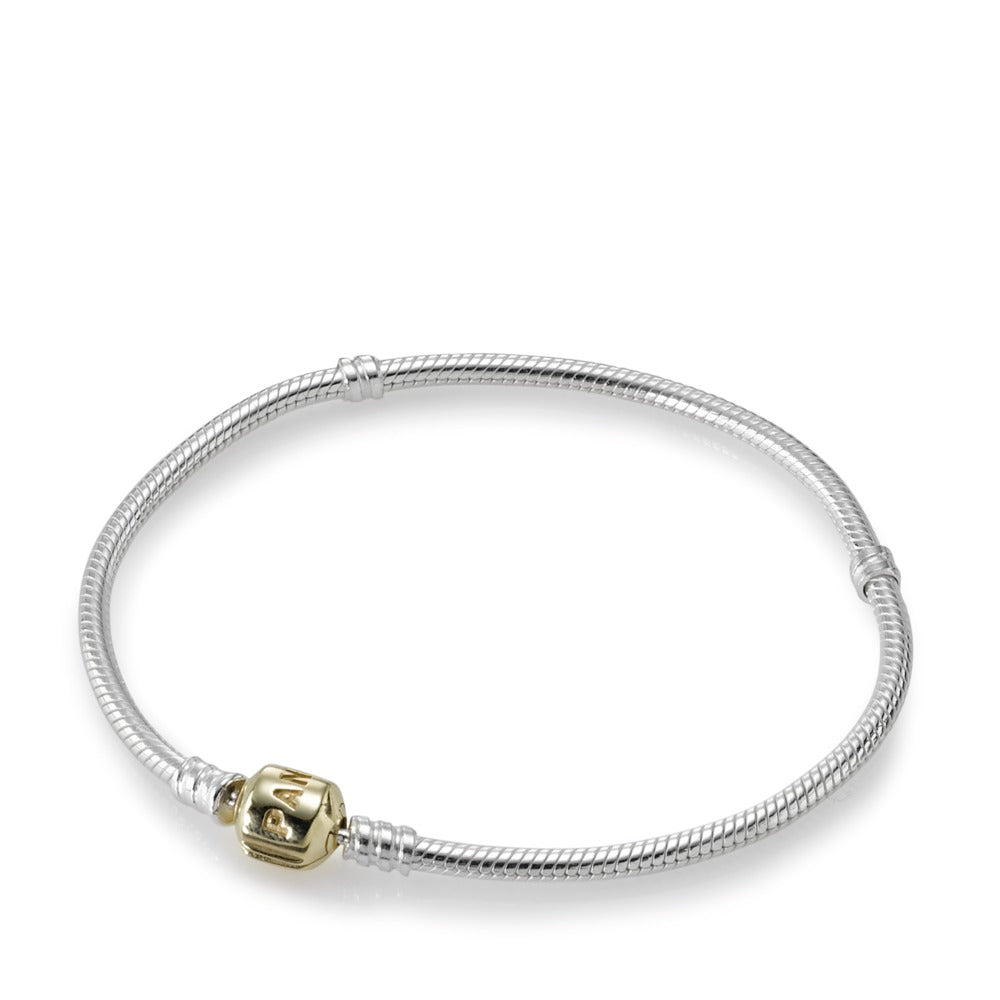 Sterling Silver Bracelet with 14K Gold Clasp - Pandora Jewelry Las Vegas