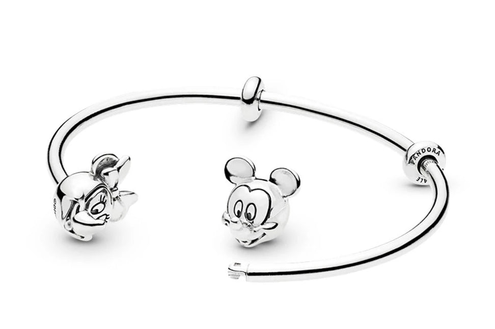 Disney Mickey & Minnie Open Bangle - Pandora Jewelry Las Vegas