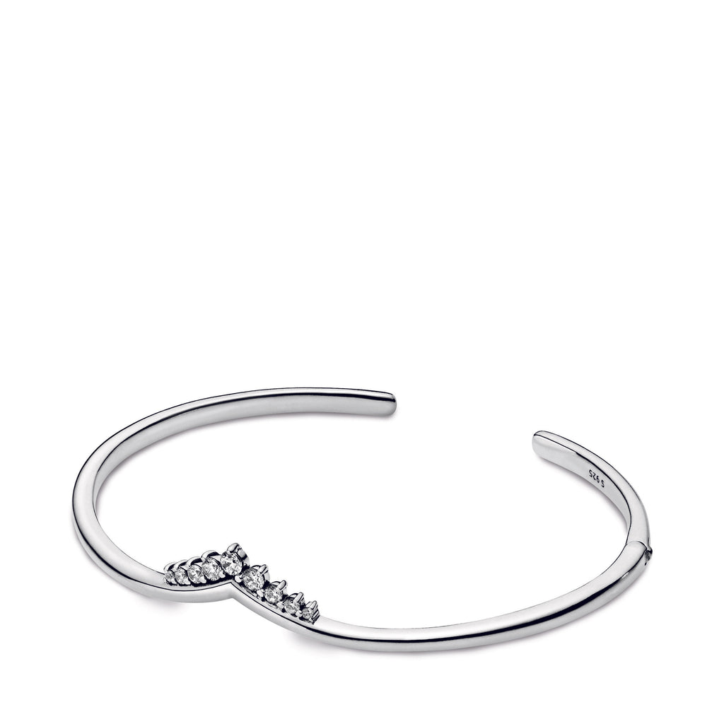 Tiara Wishbone Open Bangle - Pandora Jewelry Las Vegas