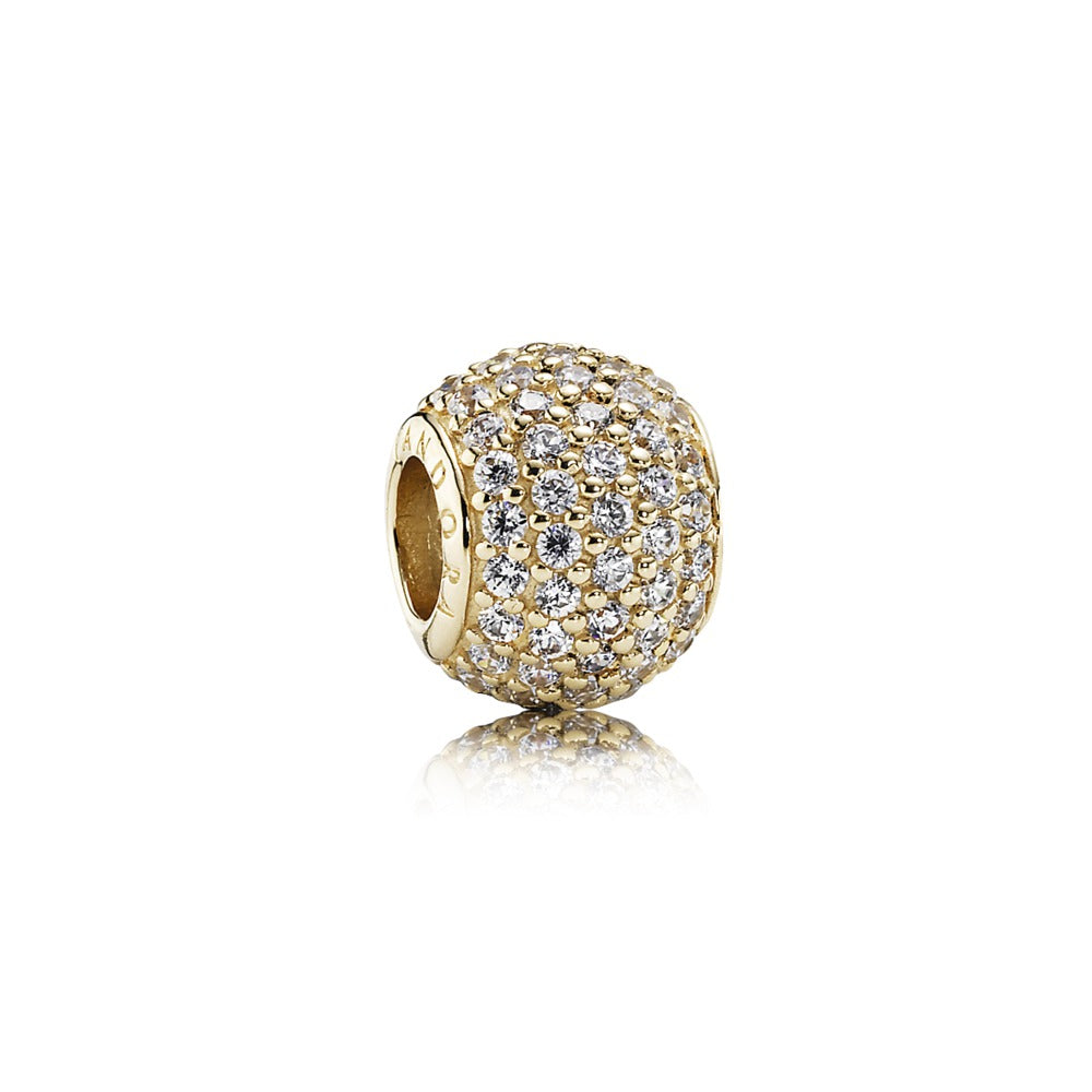 Pavé Lights 14k Gold Charm - Pandora Jewelry Las Vegas