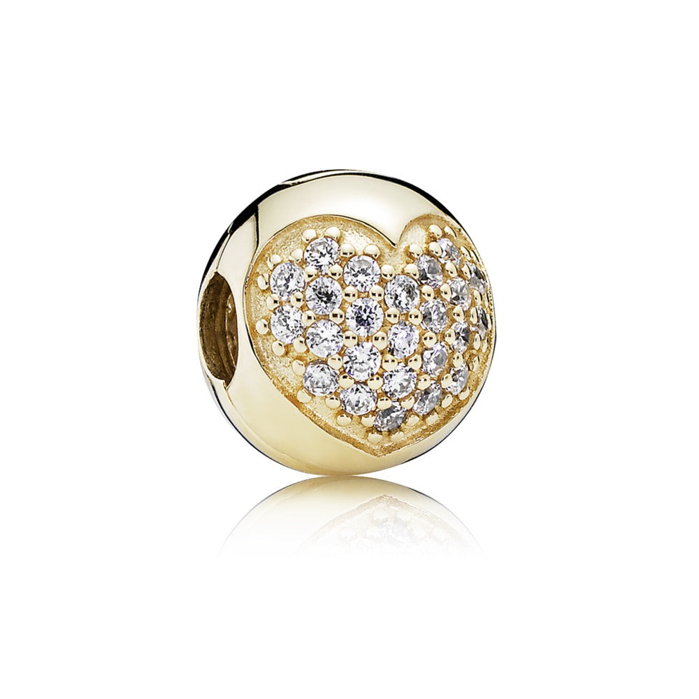 Love of My Life 14k Gold Clip Charm - Charm - Pandora Las Vegas Jewelry