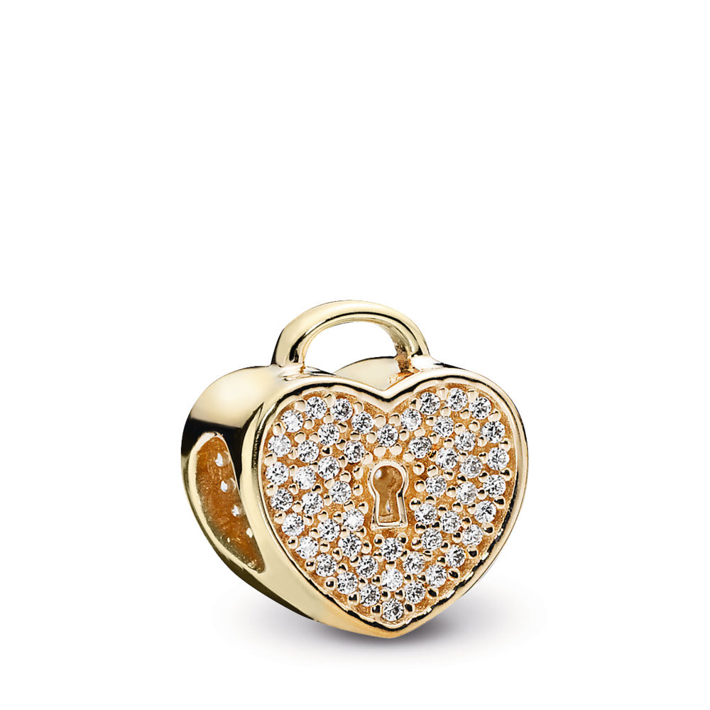 Heart Lock 14k Gold Charm