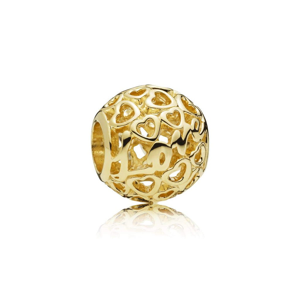 Glowing with Love 14k Gold Charm - Pandora Jewelry Las Vegas