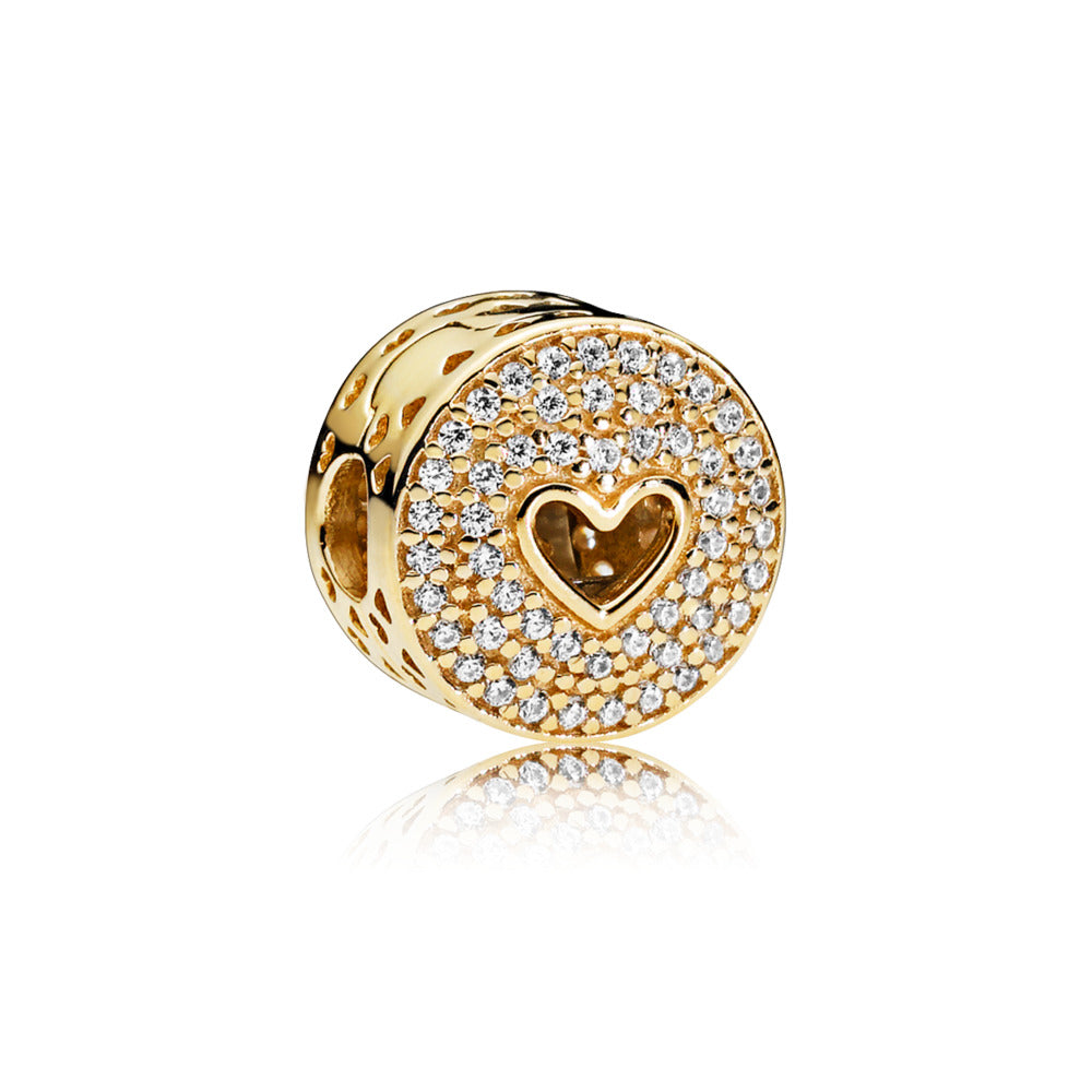 Heart of Luxury 14k Gold Clip Charm - Charm - Pandora Las Vegas Jewelry