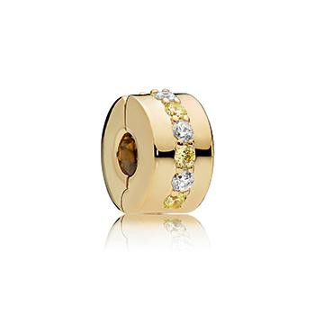 Shining Path Pandora Shine Clip Charm with Yellow & Clear CZ - Pandora Jewelry Las Vegas