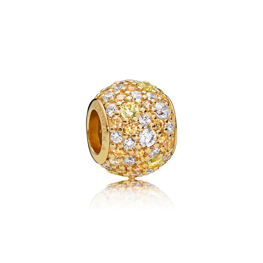 Pandora Shine Golden Mix Pave Charm - Pandora Jewelry Las Vegas