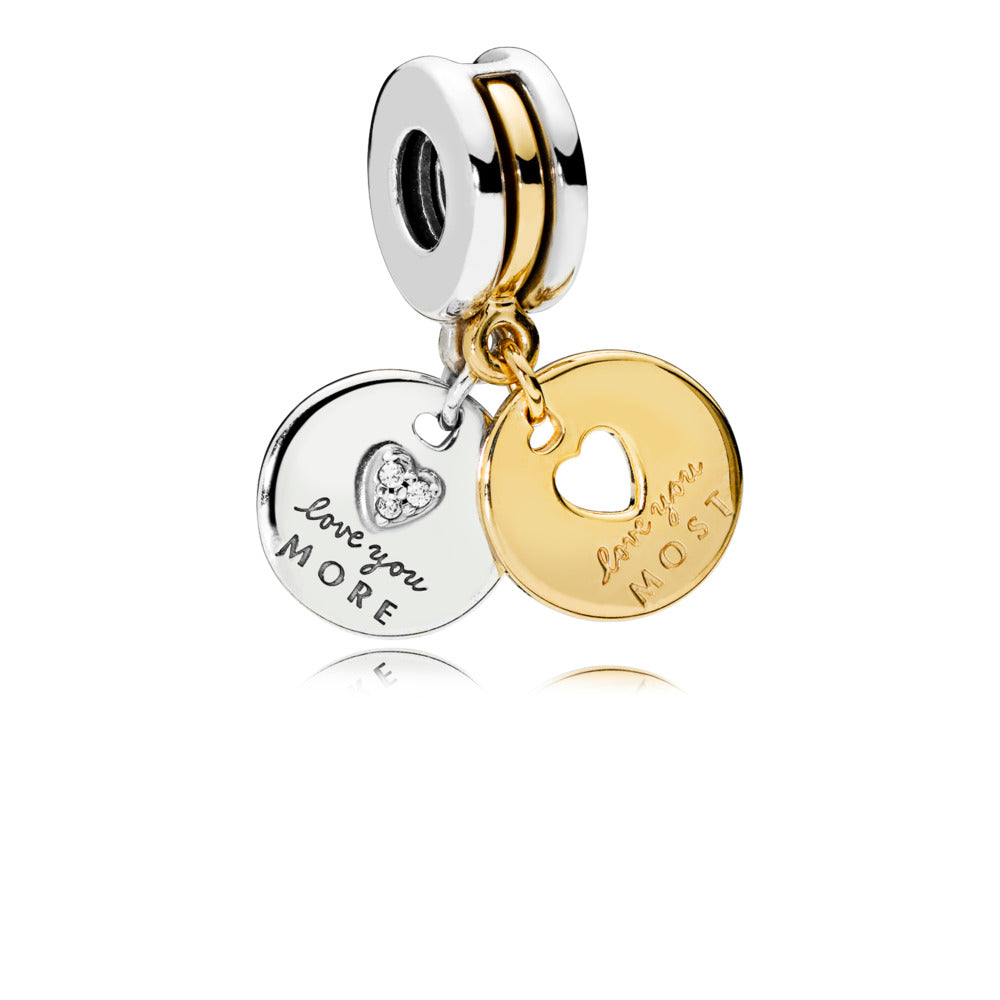 More And Most Love Dangle Charm with Pandora Shine - Charm - Pandora Las Vegas Jewelry