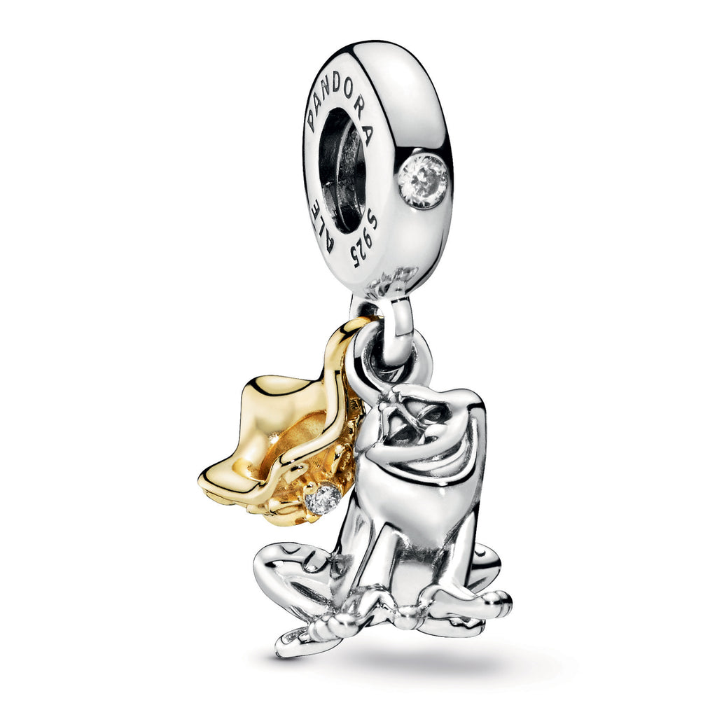 Disney Princess Tiana Frog Prince Pandora Shine Dangle Charm - Pandora Jewelry Las Vegas
