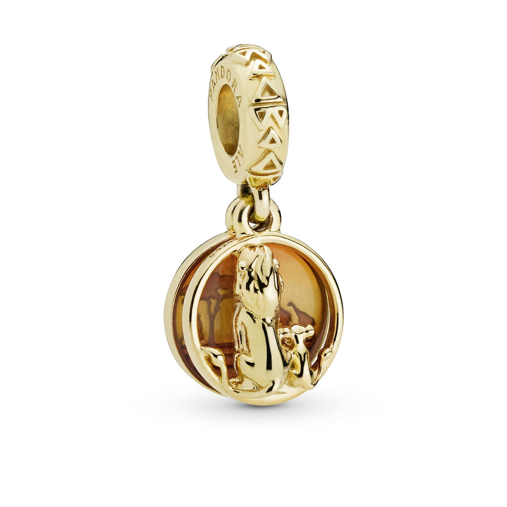 Disney Simba & Mufasa Sunset Pandora Shine Dangle Charm - Pandora Jewelry Las Vegas