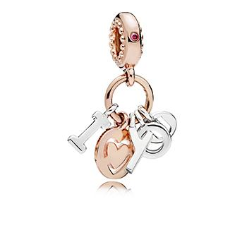 I Love You Pandora Rose Dangle Charm - Pandora Jewelry Las Vegas