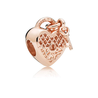 Love You Lock Pandora Rose Charm - Pandora Jewelry Las Vegas