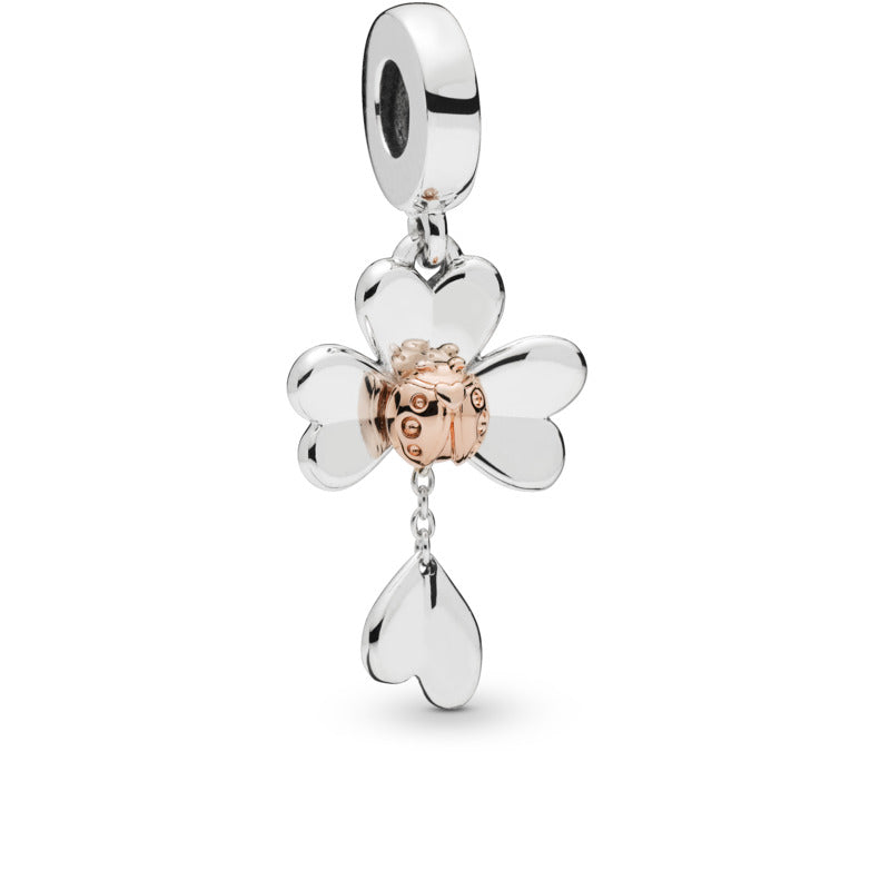 Clover and Ladybird Charm with Pandora Rose - Pandora Jewelry Las Vegas
