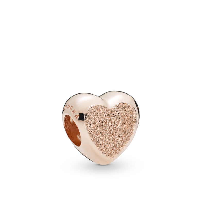 Matte Brilliance Heart Pandora Rose Charm - Pandora Jewelry Las Vegas