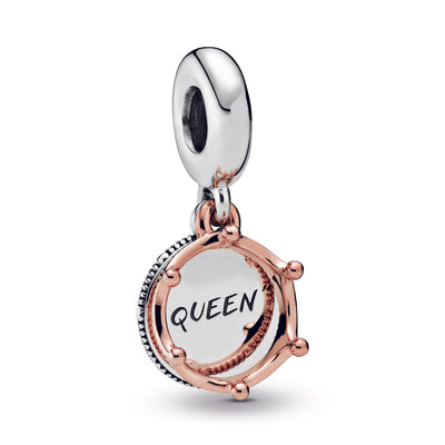 Queen & Regal Crown Dangle Charm with Pandora Rose - Pandora Jewelry Las Vegas