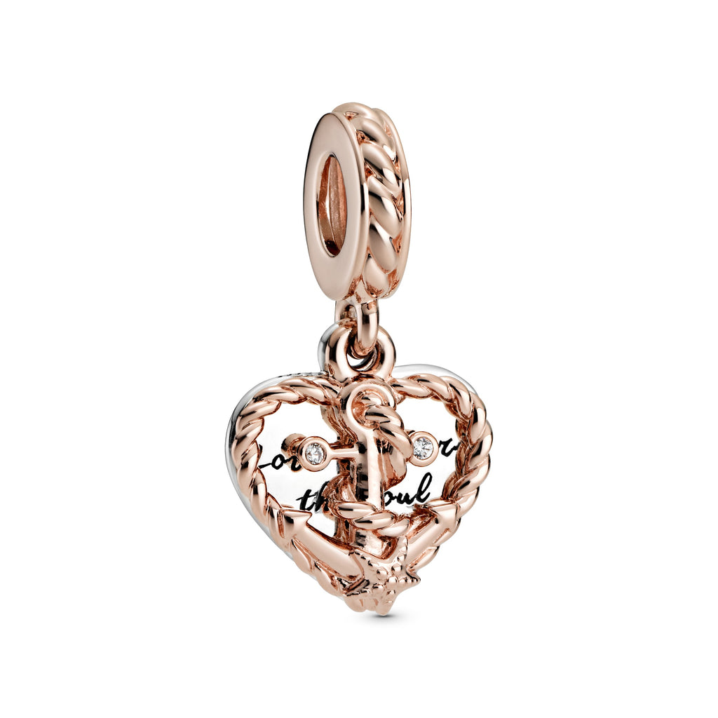 Rope Heart & Love Anchor Dangle Charm - Pandora Jewelry Las Vegas
