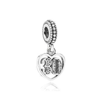 30 Years Of Love Dangle Charm - Pandora Jewelry Las Vegas