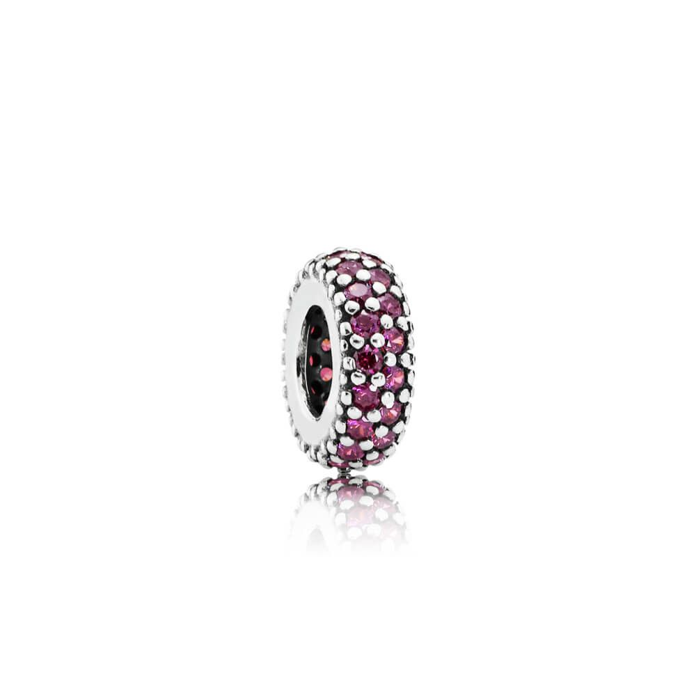 Inspiration Within Spacer Charm with Red CZ - Pandora Jewelry Las Vegas
