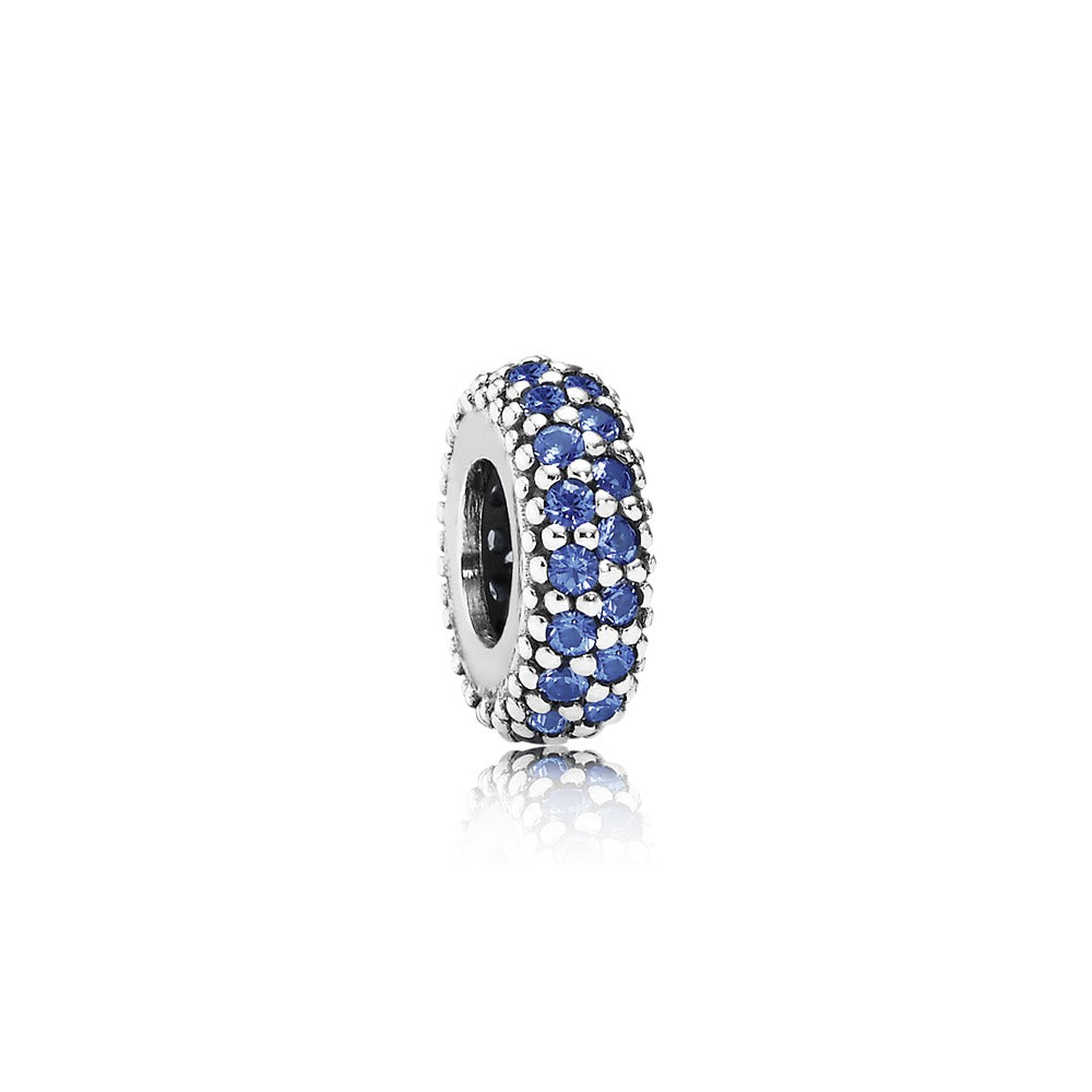 Inspiration Within Spacer Charm with Blue CZ - Pandora Jewelry Las Vegas
