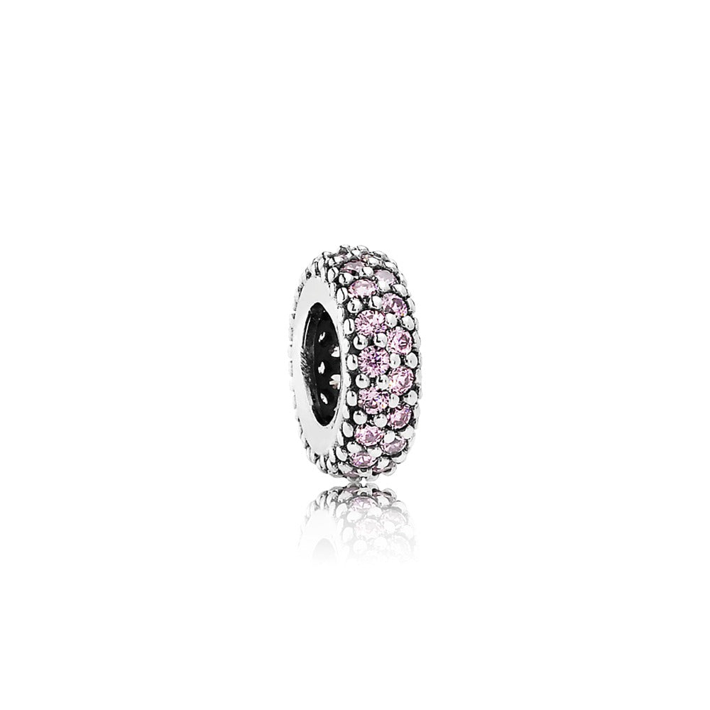 Inspiration Within Spacer Charm with Pink CZ - Pandora Jewelry Las Vegas