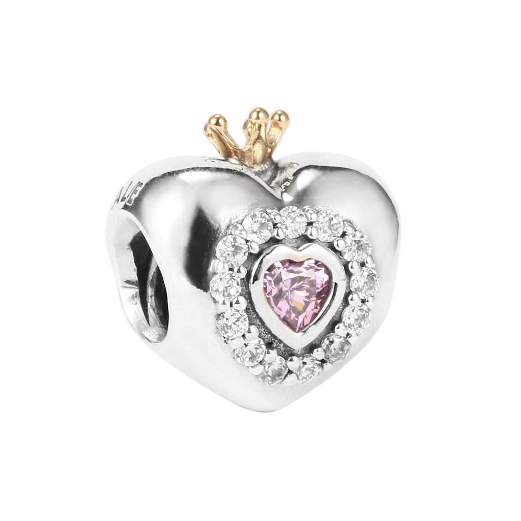 Princess Heart Charm with 14k Gold - Charm - Pandora Las Vegas Jewelry