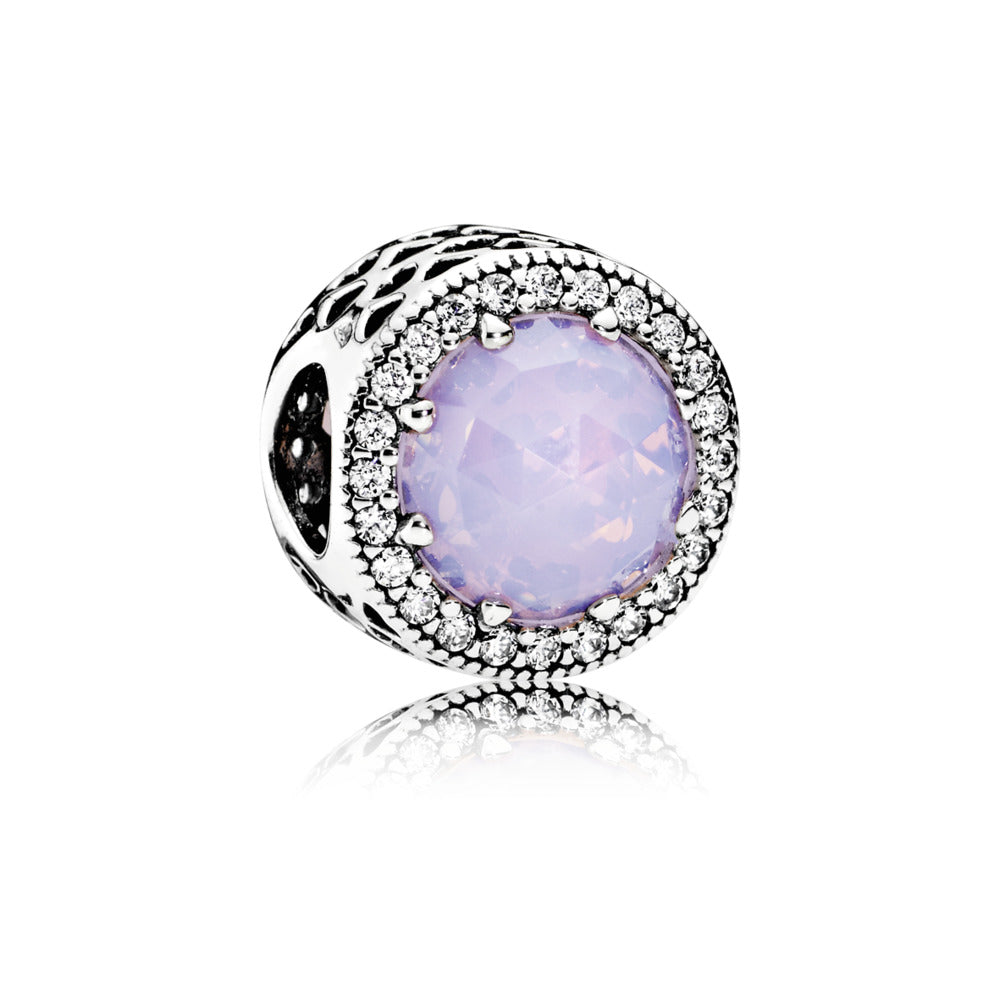 Radiant Hearts Opalescent Pink Crystal Charm - Pandora Jewelry Las Vegas