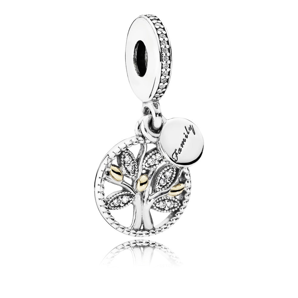 Family Heritage Dangle Charm with 14k Gold - Pandora Jewelry Las Vegas
