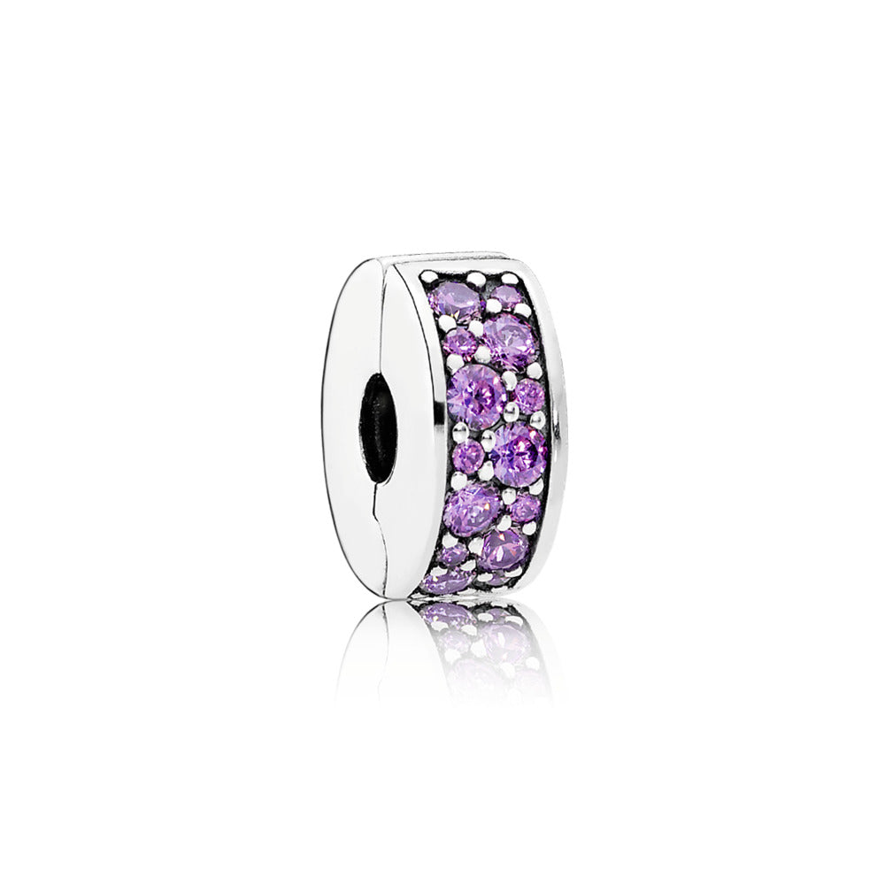 Shinning Elegance Clip Charm with Fancy Purple CZ - Pandora Jewelry Las Vegas