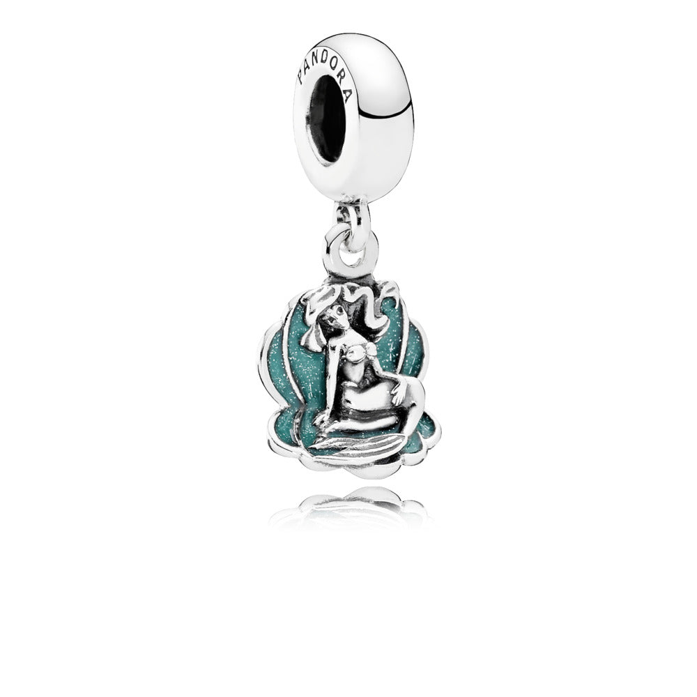 Disney Ariel & Sea Shell Dangle Charm with Enamel