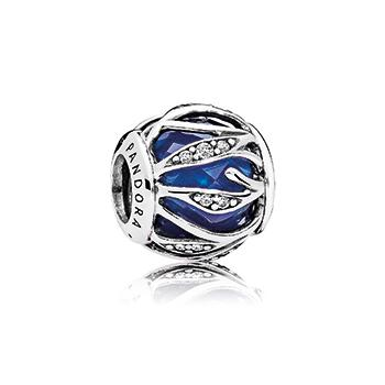 Nature's Radiance Charm, Royal Blue Crystal - Pandora Jewelry Las Vegas