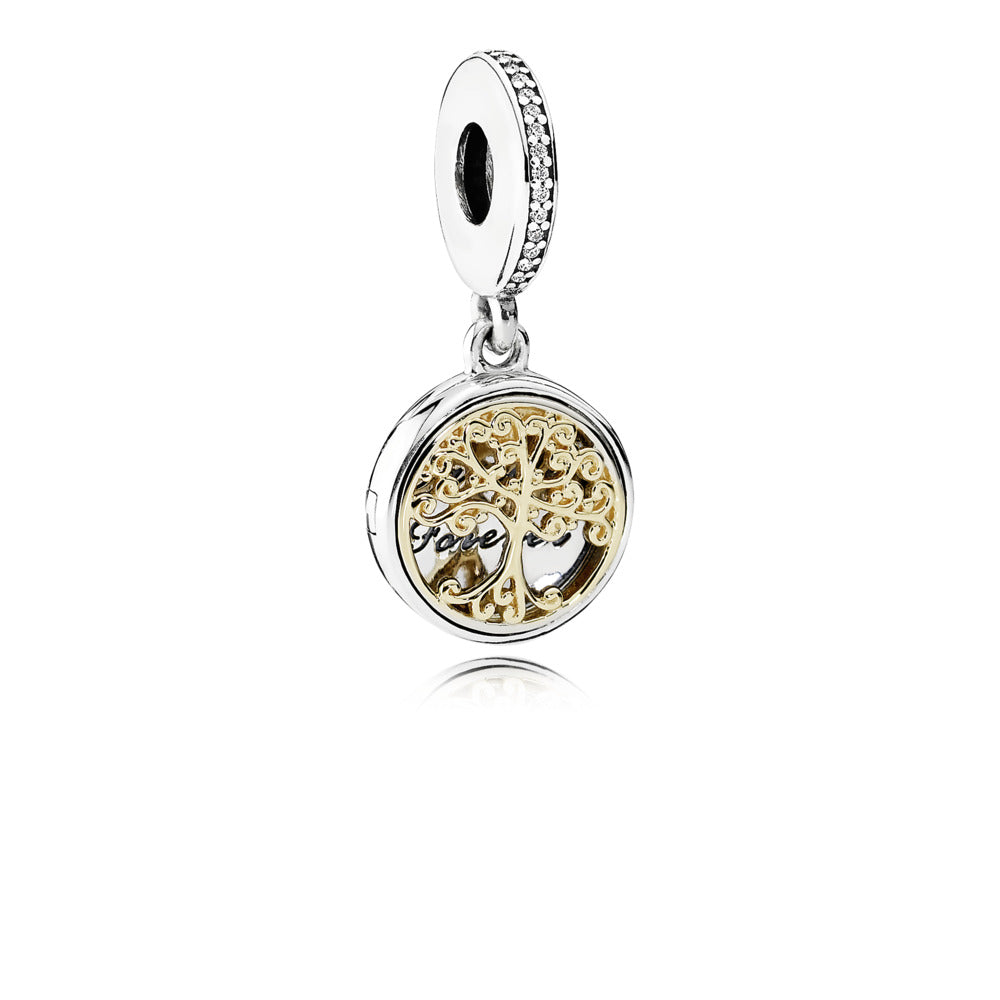 Family Roots Dangle Charm with 14k Gold - Pandora Jewelry Las Vegas