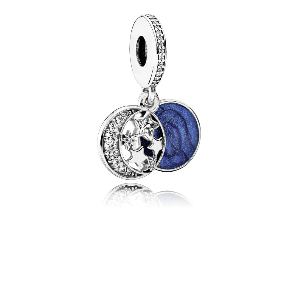 Vintage Night Sky Dangle Charm - Pandora Jewelry Las Vegas