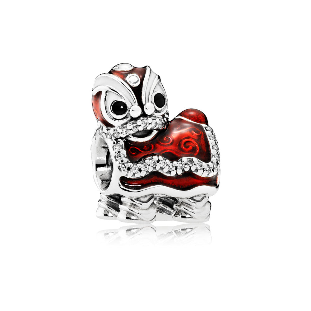 Chinese Lion New Year Charm with Red Enamel - Charm - Pandora Las Vegas Jewelry