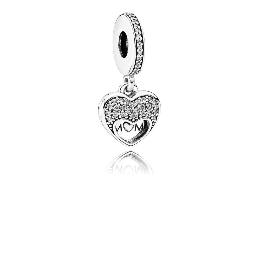 I Love My Mom Dangle Charm - Pandora Jewelry Las Vegas