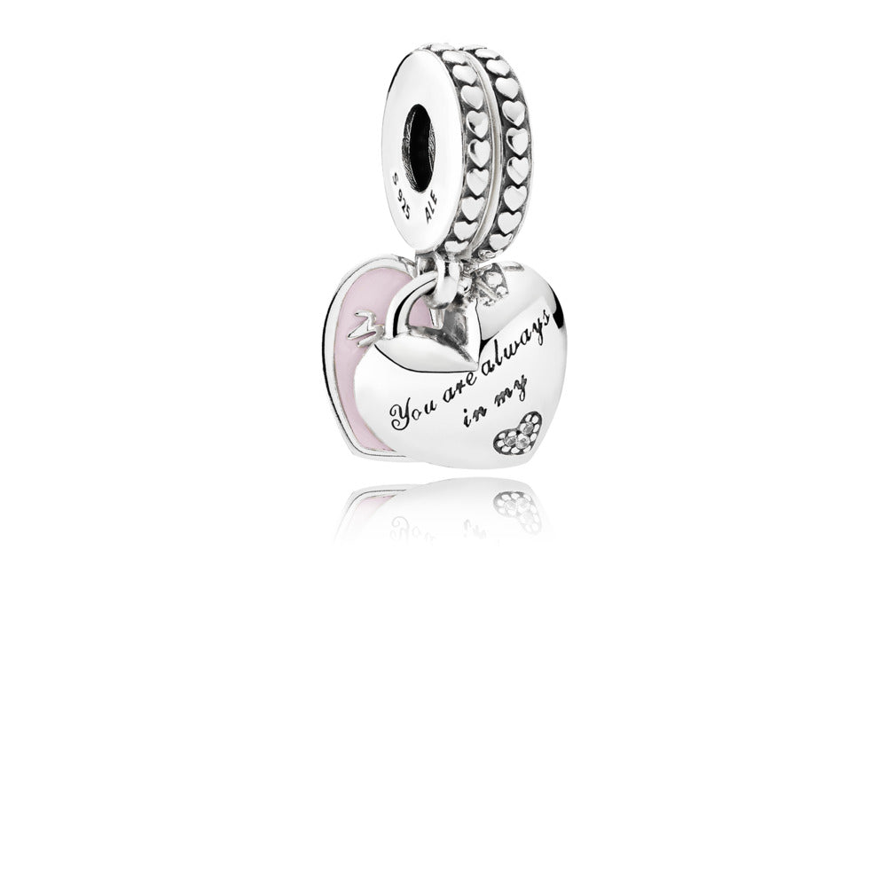 Mother & Daughter Hearts Dangle Charm - Pandora Jewelry Las Vegas