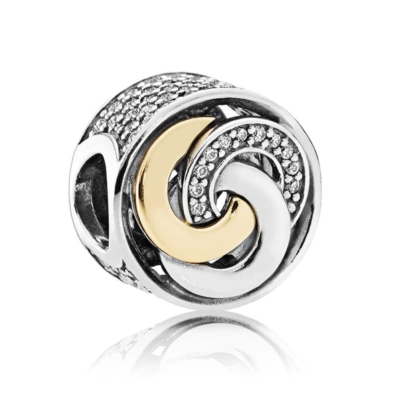 Interlinked Circles Charm with 14k Gold - Charm - Pandora Las Vegas Jewelry