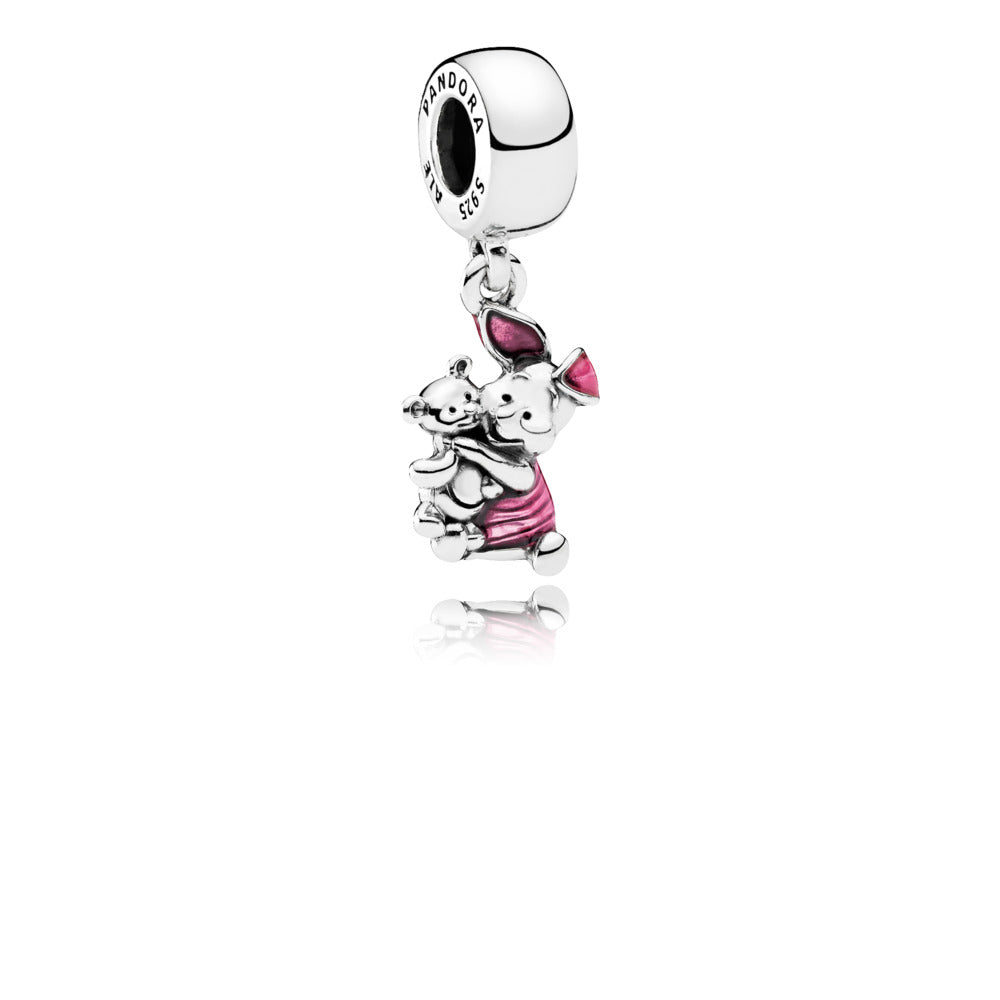 Disney Winnie the Pooh Piglet Dangle Charm with Enamel