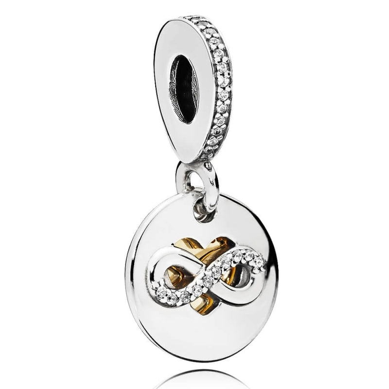 Heart Of Infinity Dangle Charm with 14k Gold - Charm - Pandora Las Vegas Jewelry