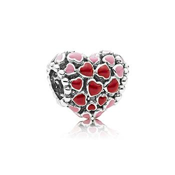 Burst of Love Charm with Mixed Enamel - Charm - Pandora Las Vegas Jewelry