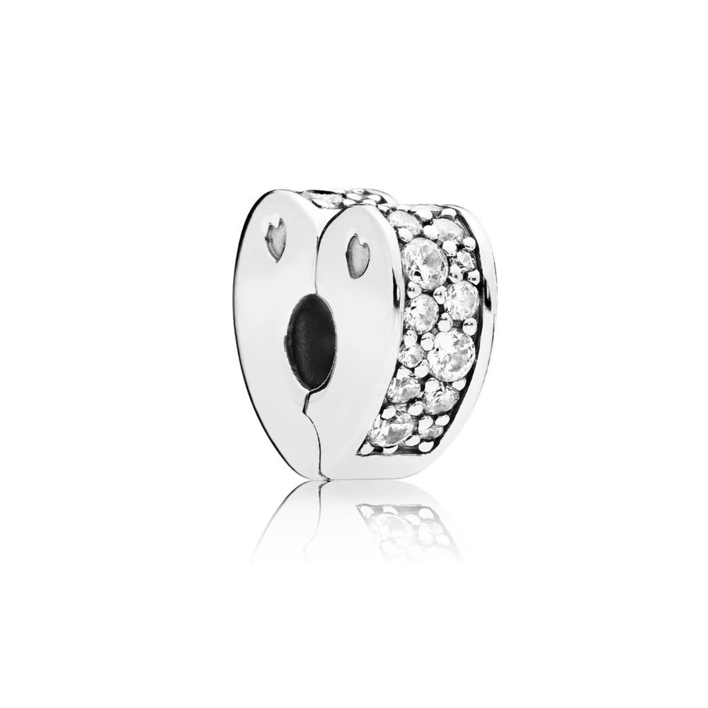 Sparkling Arcs of Love Clip Charm with Clear CZ - Pandora Jewelry Las Vegas