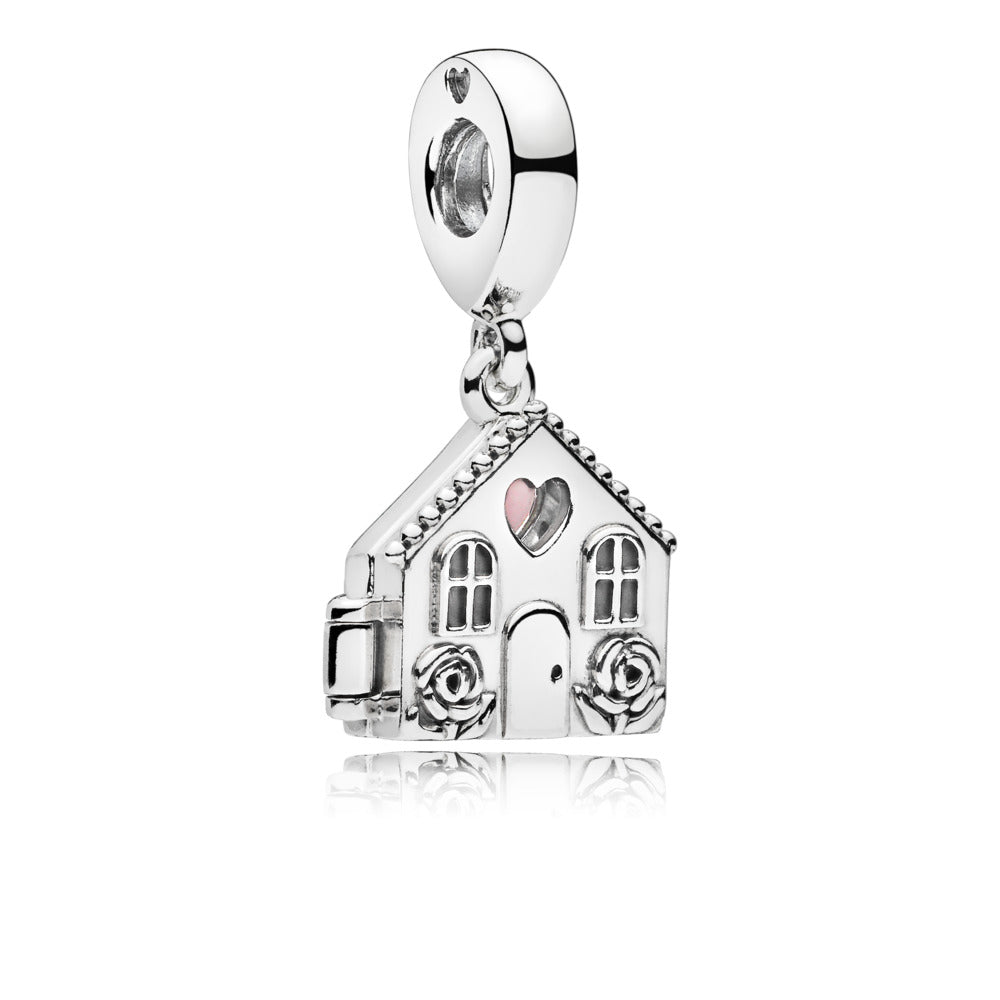 Perfect Home Dangle Charm with Pale Pink Enamel - Pandora Jewelry Las Vegas