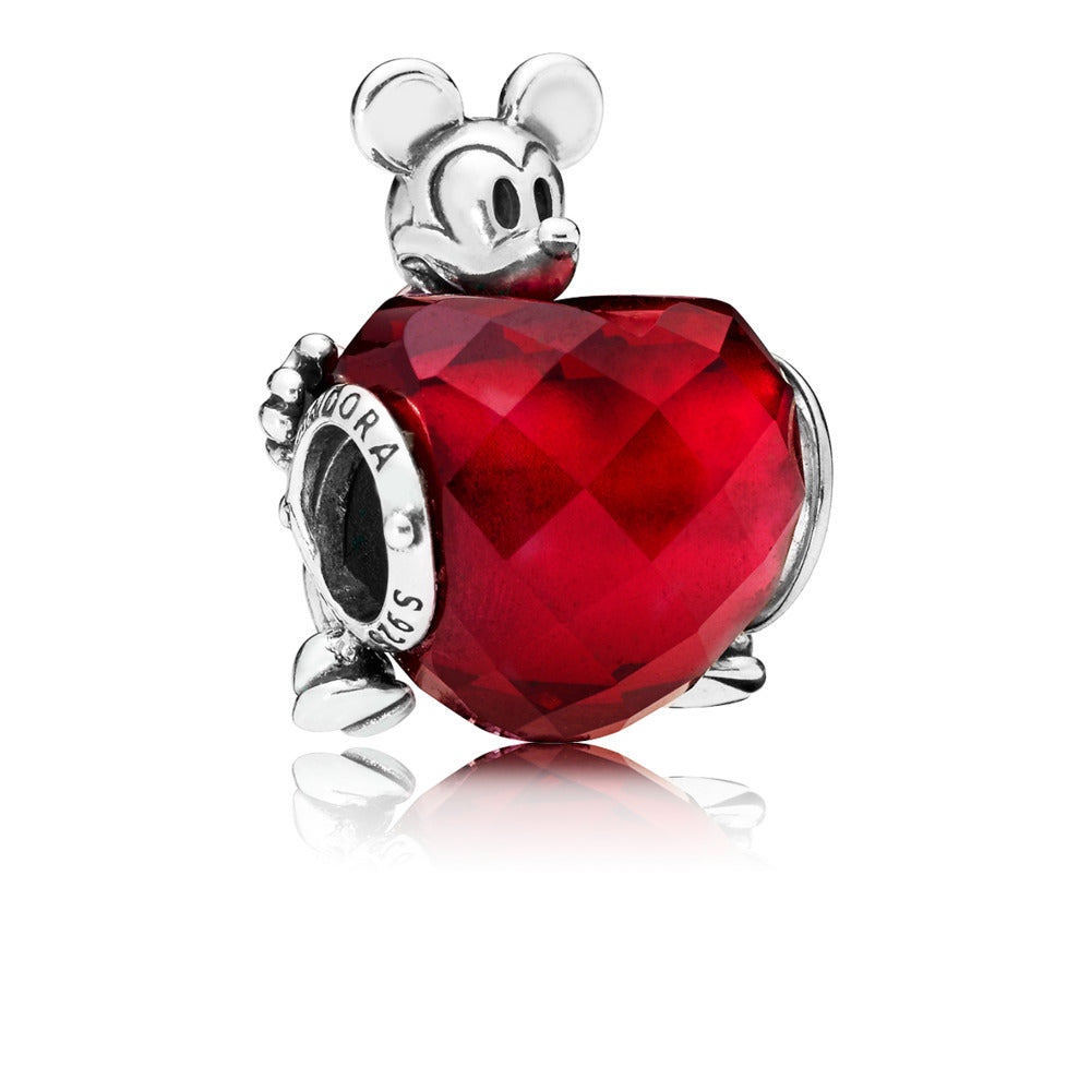 Disney Mickey Love Heart Charm - Pandora Jewelry Las Vegas